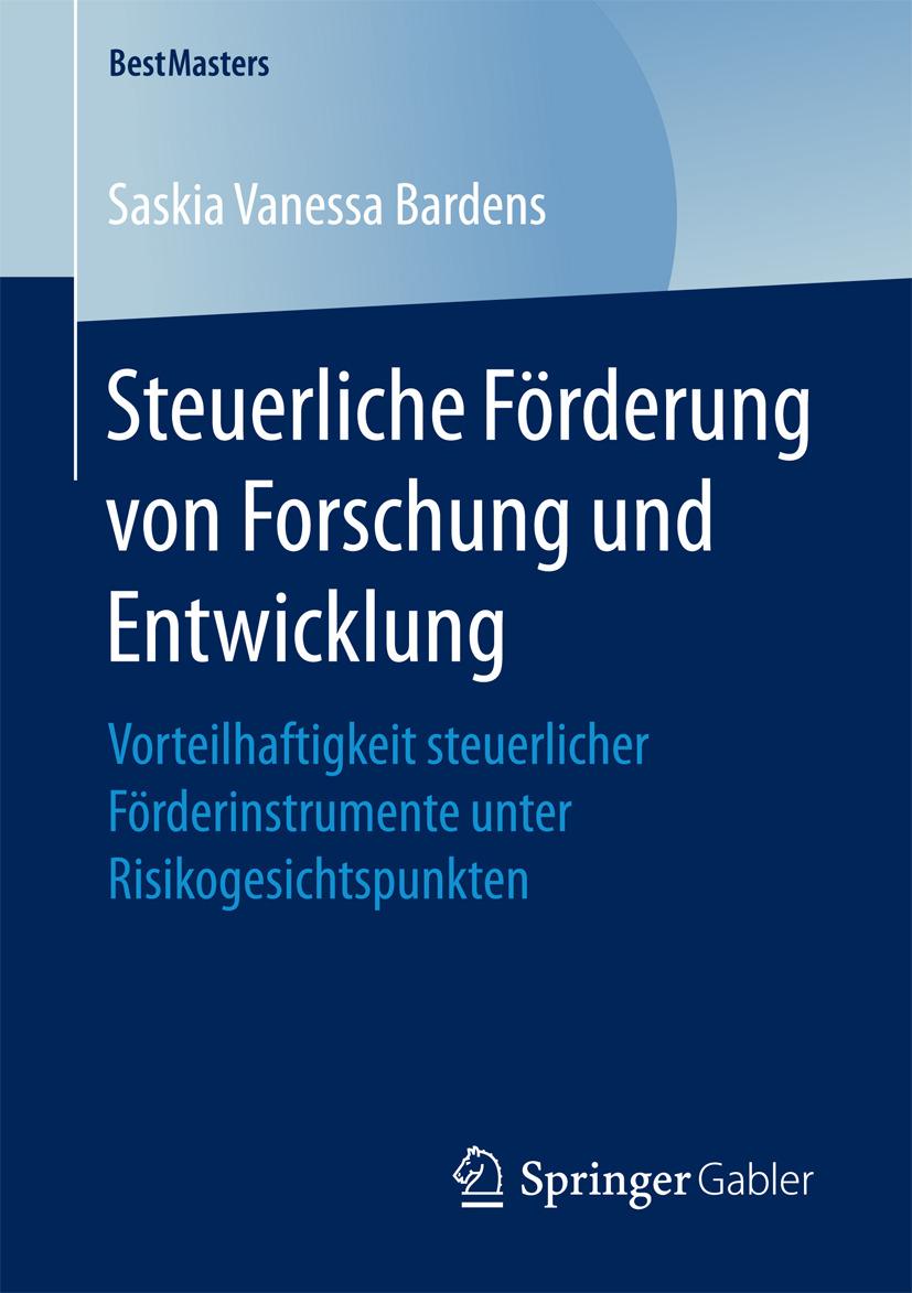 Bardens, Saskia Vanessa - Steuerliche Förderung von Forschung und Entwicklung, ebook