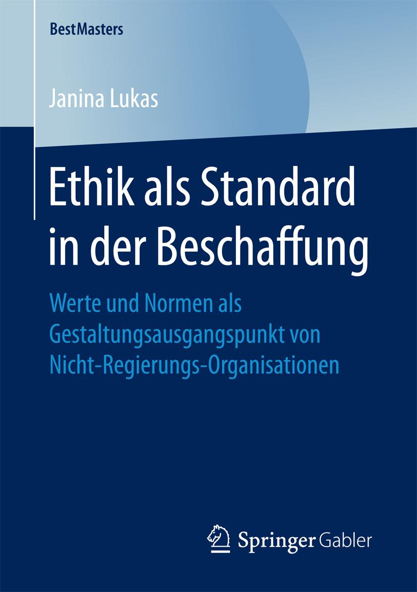 Lukas, Janina - Ethik als Standard in der Beschaffung, ebook
