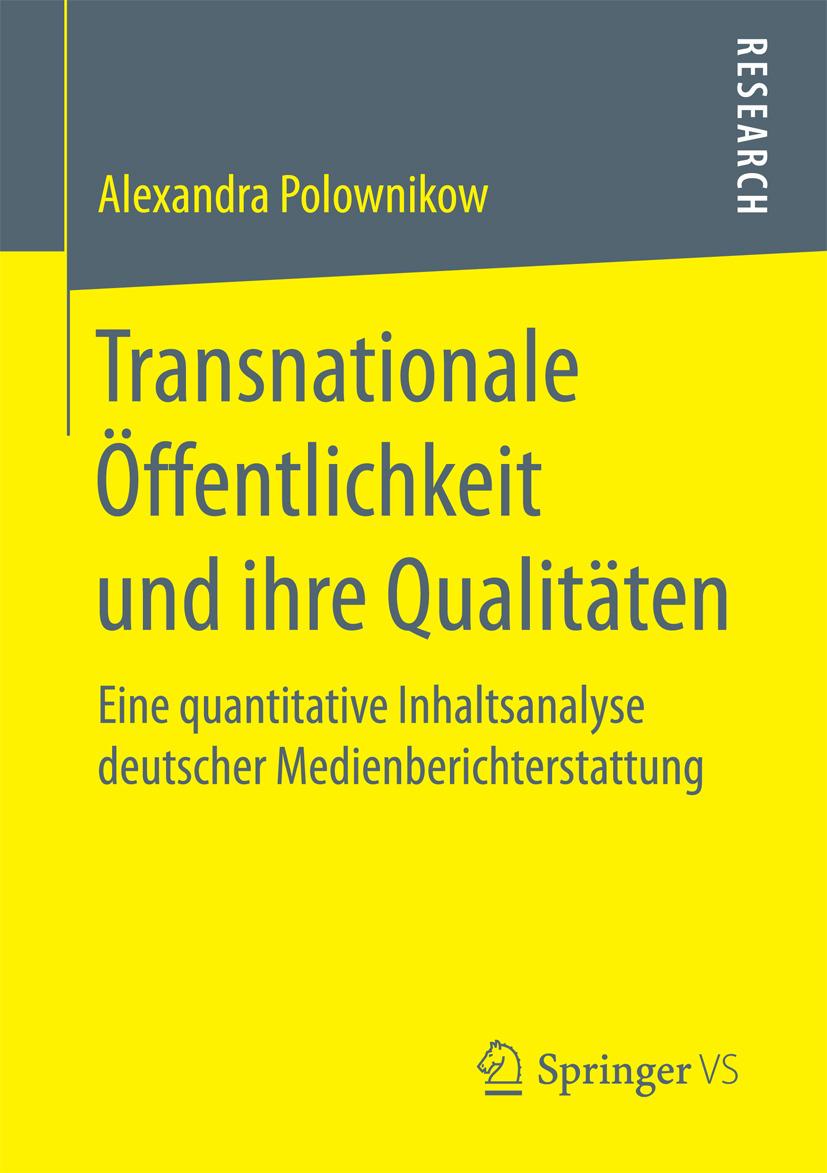 Polownikow, Alexandra - Transnationale Öffentlichkeit und ihre Qualitäten, ebook