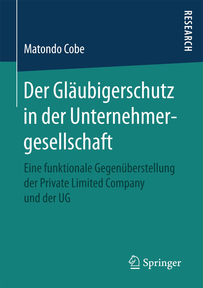 Cobe, Matondo - Der Gläubigerschutz in der Unternehmergesellschaft, ebook