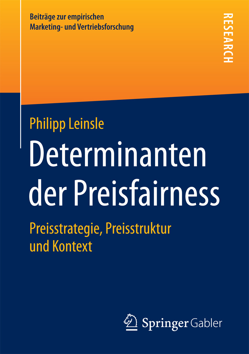 Leinsle, Philipp - Determinanten der Preisfairness, ebook