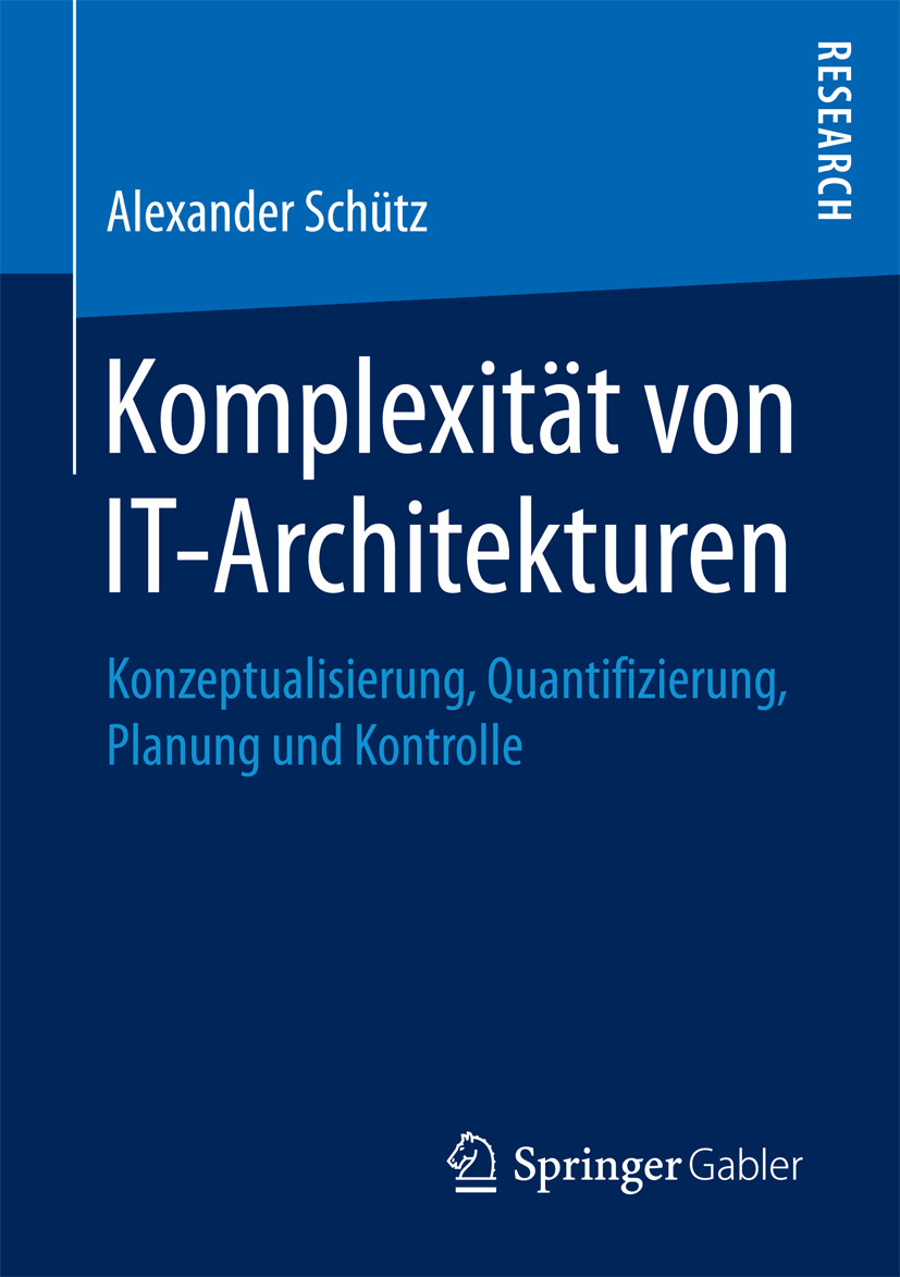 Schütz, Alexander - Komplexität von IT-Architekturen, ebook