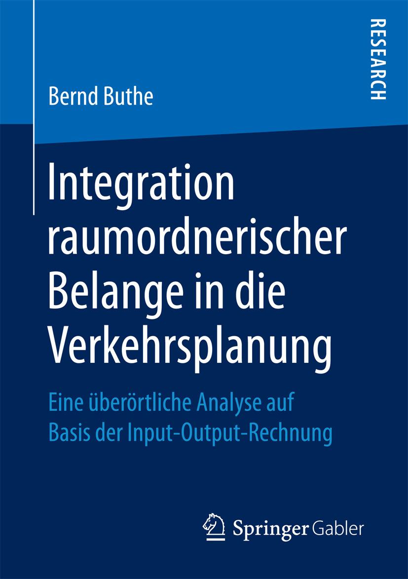 Buthe, Bernd - Integration raumordnerischer Belange in die Verkehrsplanung, ebook