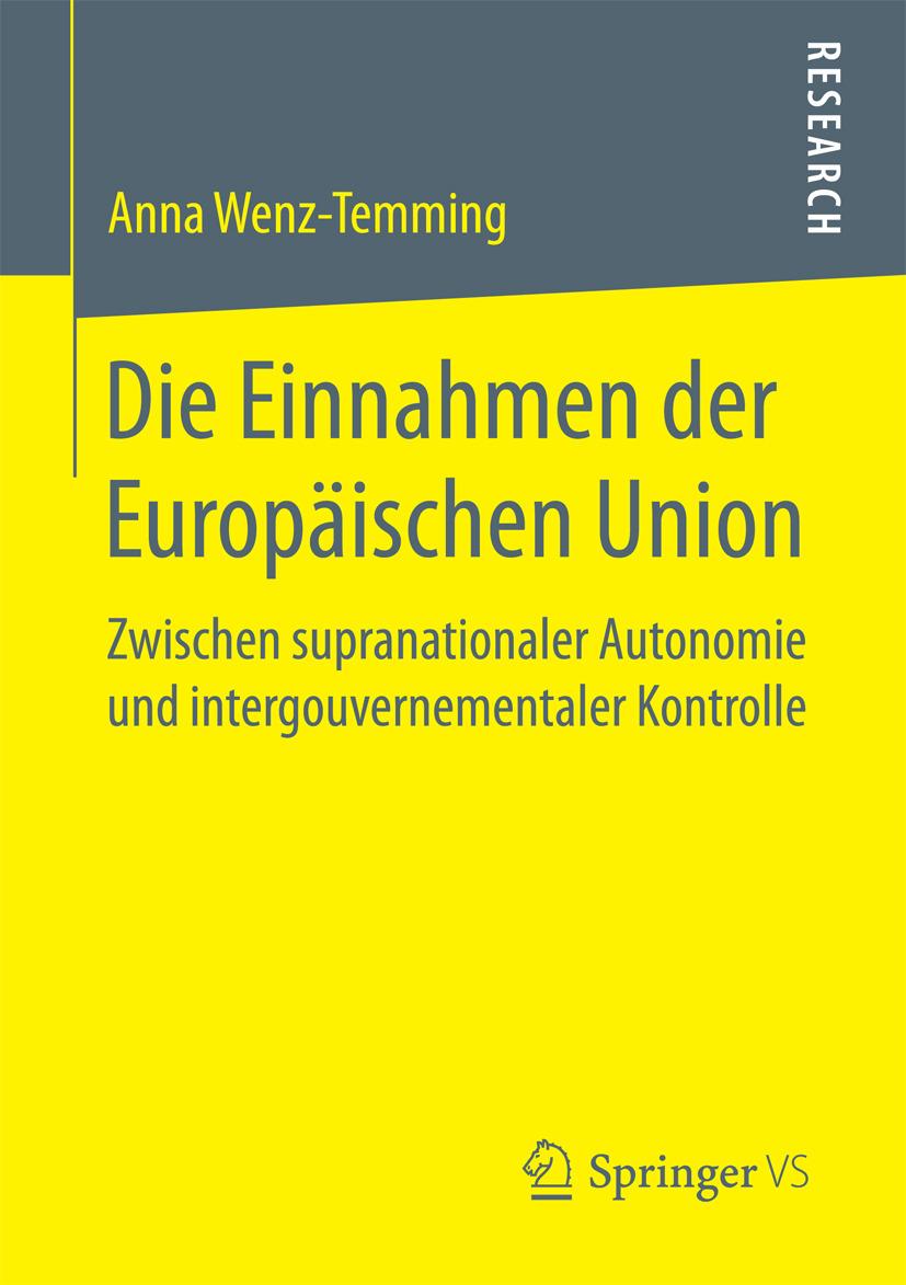 Wenz-Temming, Anna - Die Einnahmen der Europäischen Union, ebook
