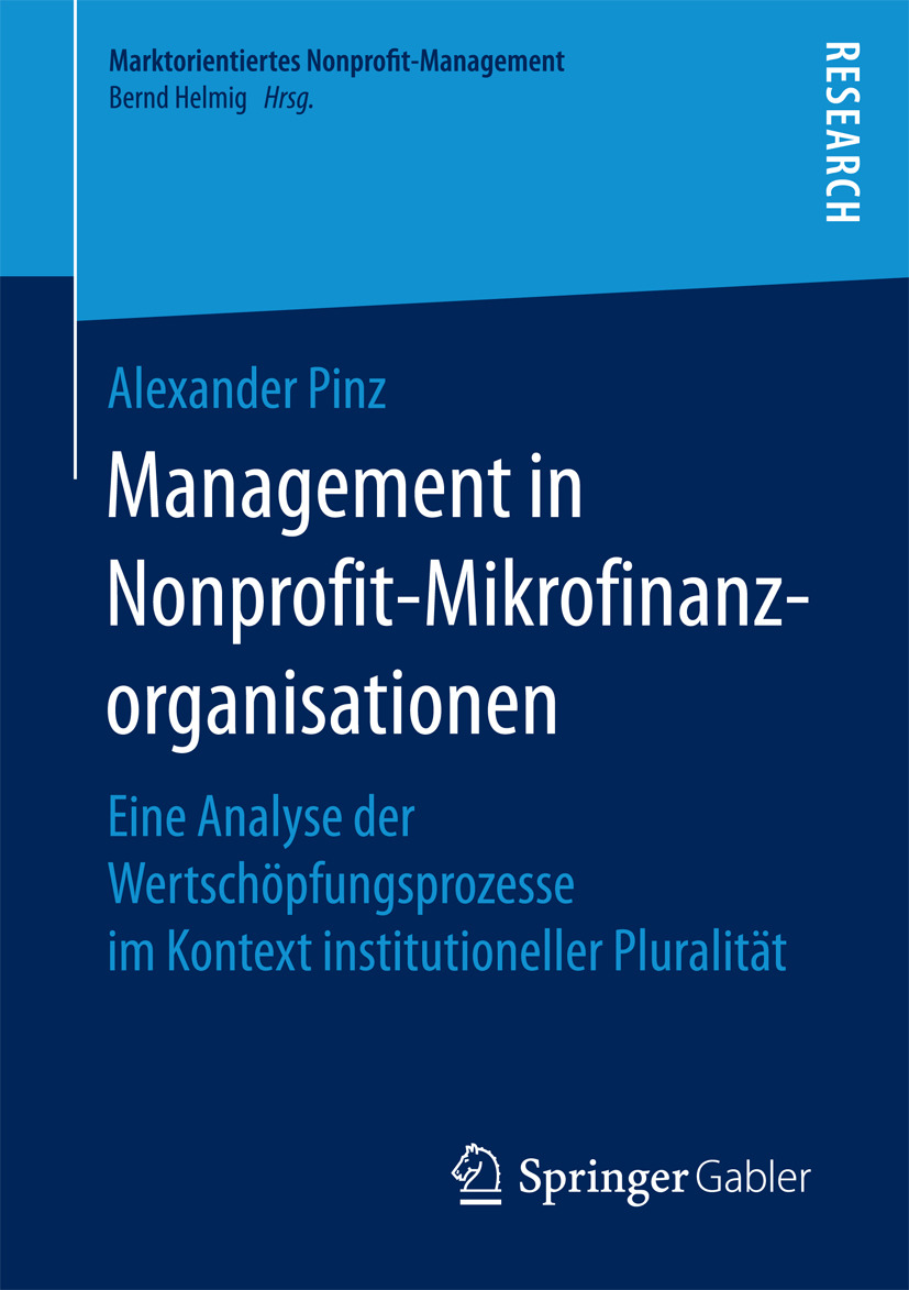 Pinz, Alexander - Management in Nonprofit-Mikrofinanzorganisationen, ebook