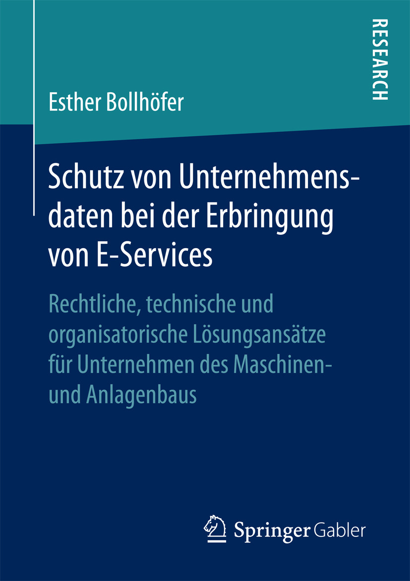Bollhöfer, Esther - Schutz von Unternehmensdaten bei der Erbringung von E-Services, ebook