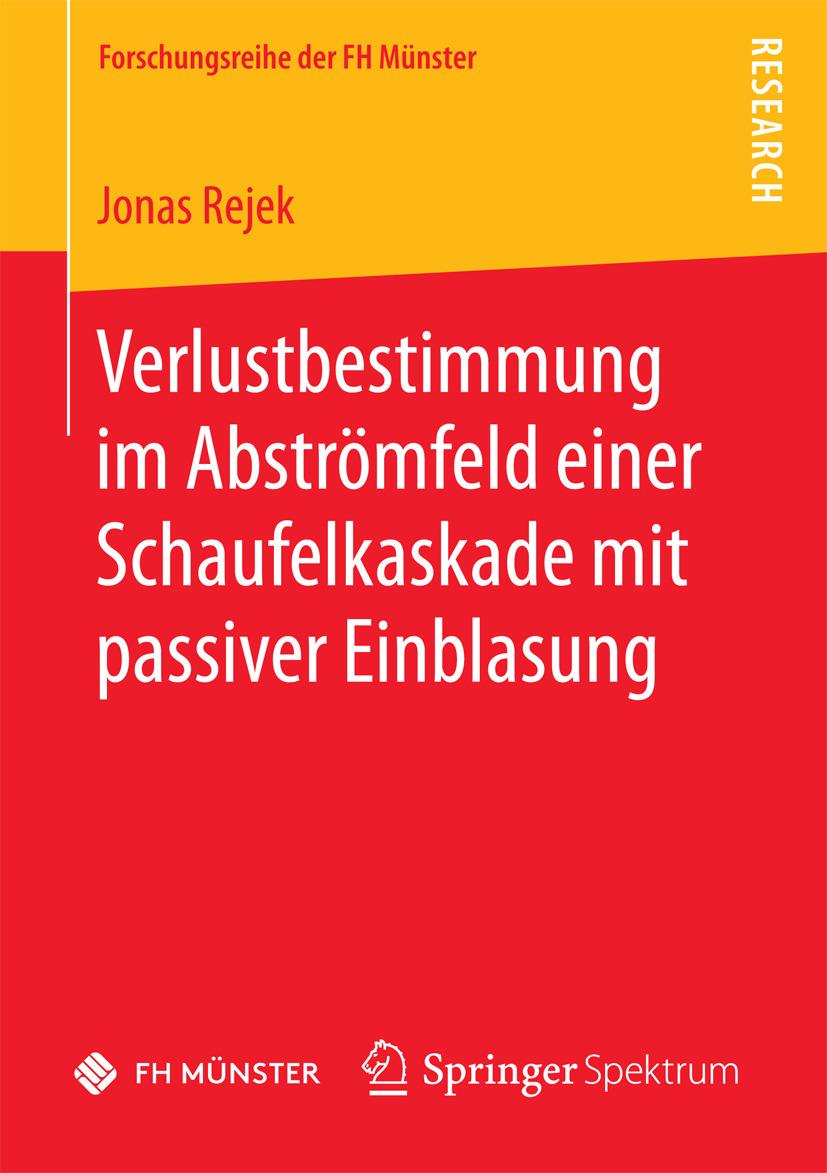 Rejek, Jonas - Verlustbestimmung im Abströmfeld einer Schaufelkaskade mit passiver Einblasung, ebook