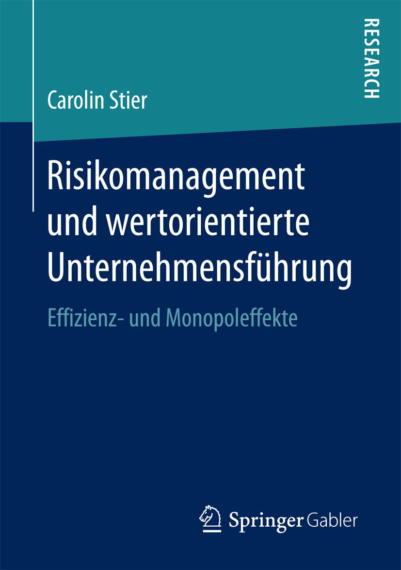 Stier, Carolin - Risikomanagement und wertorientierte Unternehmensführung, ebook
