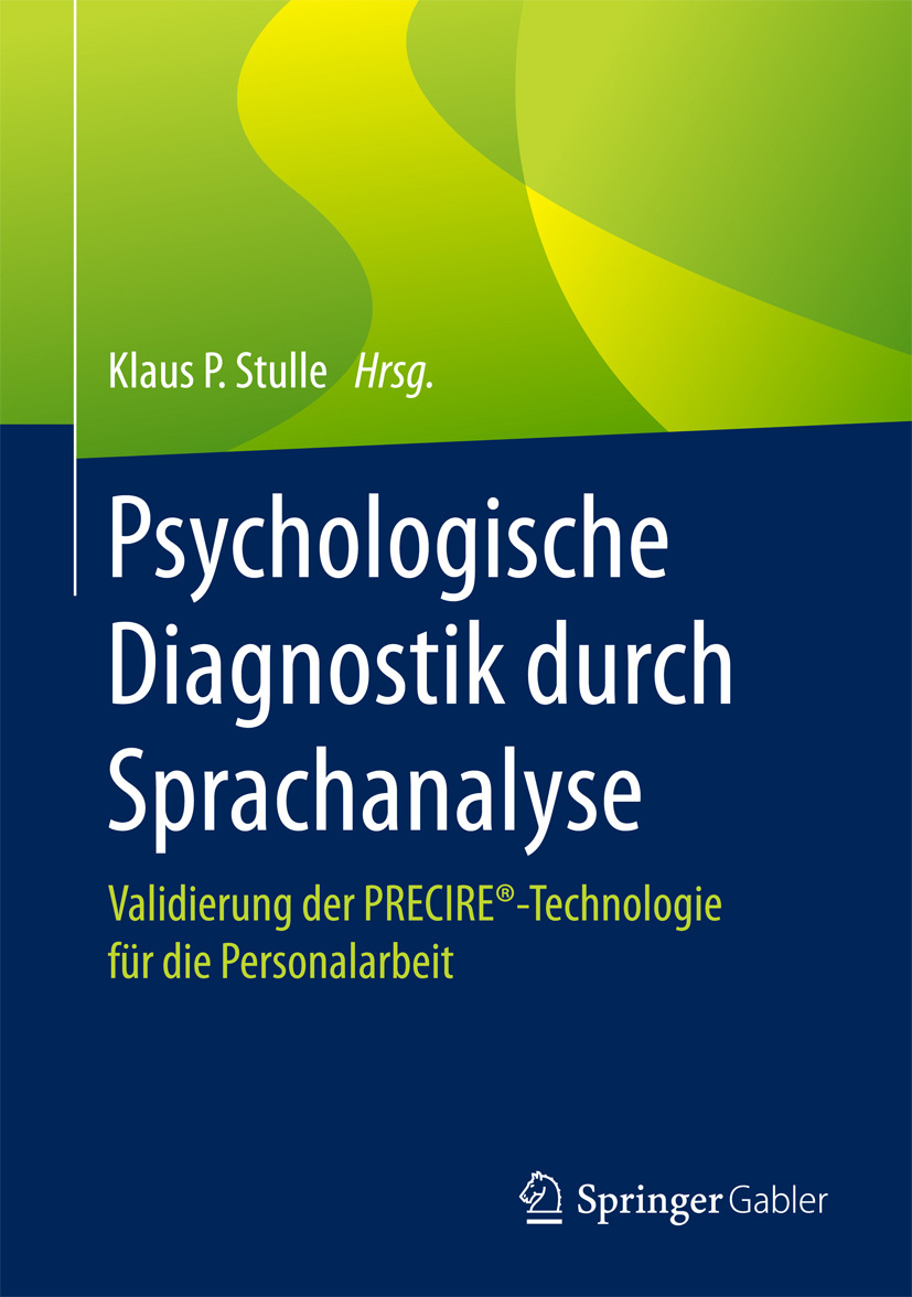 Stulle, Klaus P. - Psychologische Diagnostik durch Sprachanalyse, ebook