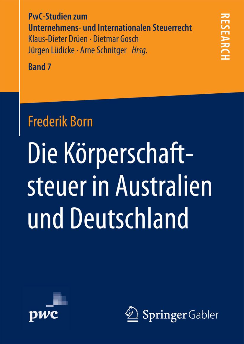 Born, Frederik - Die Körperschaftsteuer in Australien und Deutschland, ebook