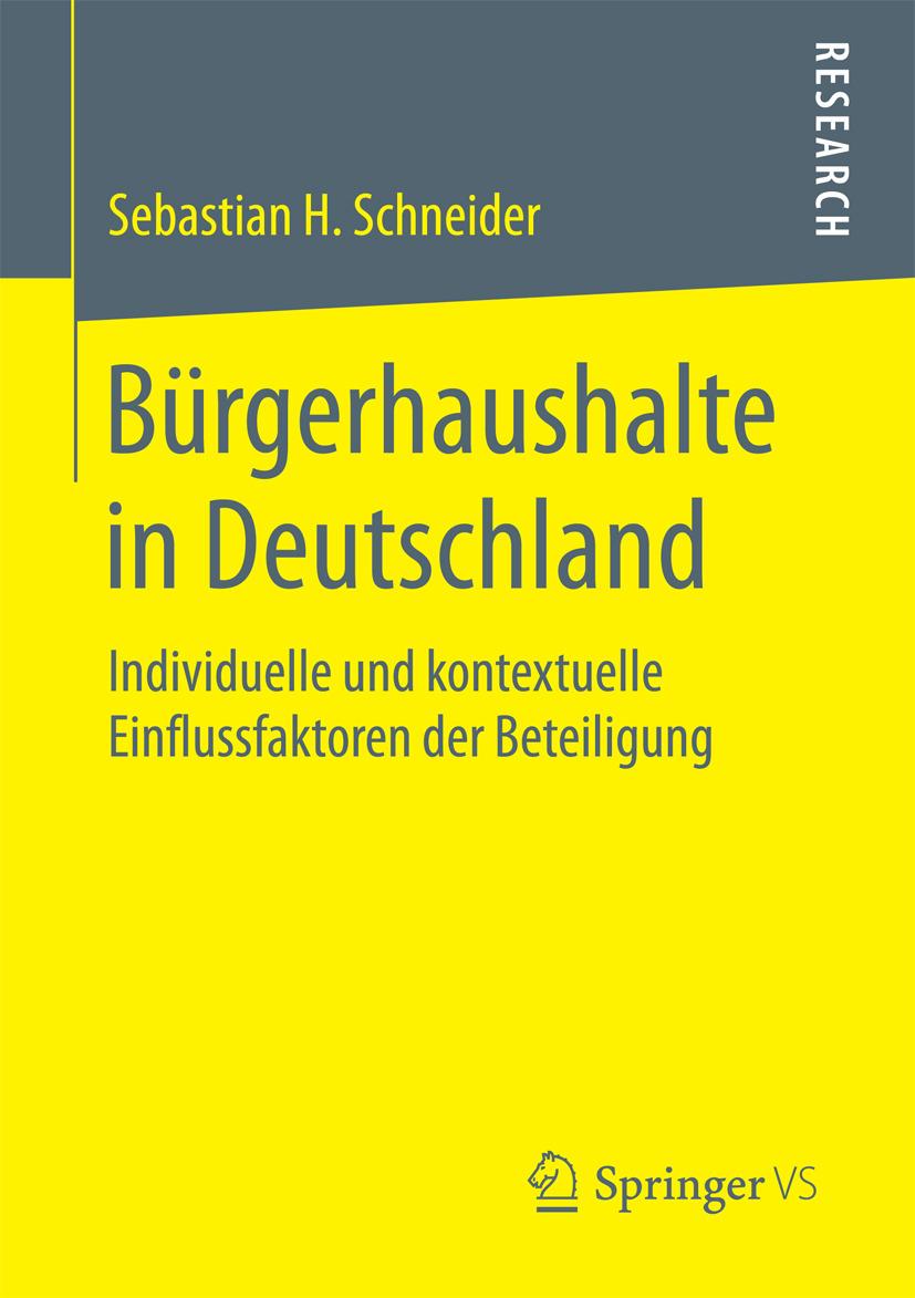 Schneider, Sebastian H. - Bürgerhaushalte in Deutschland, ebook