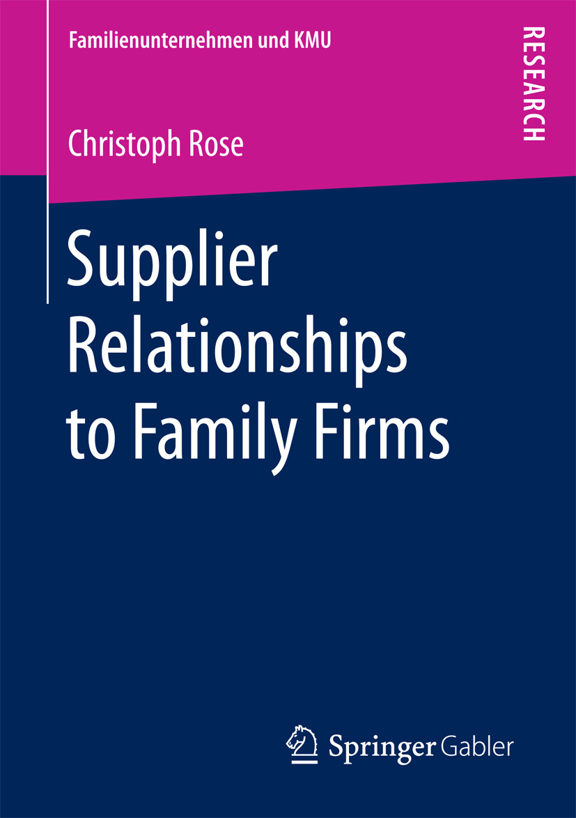 Rose, Christoph - Supplier Relationships to Family Firms, ebook