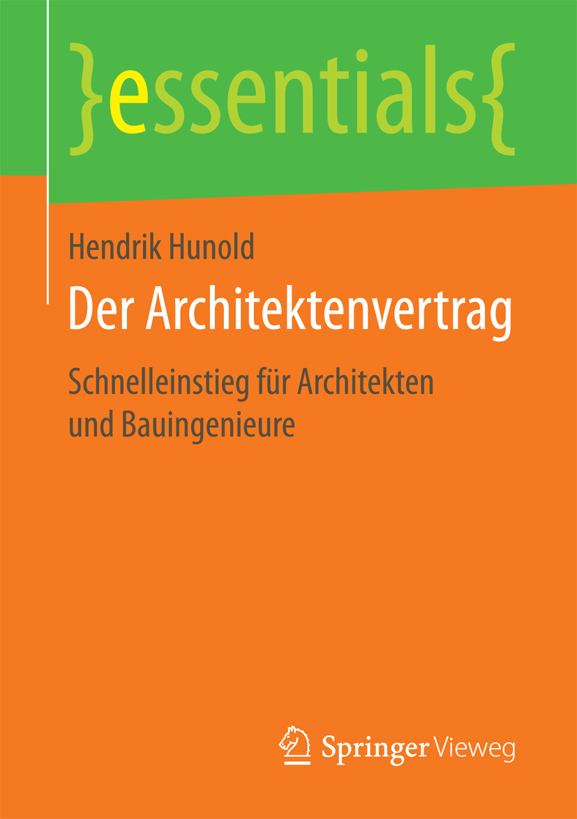 Hunold, Hendrik - Der Architektenvertrag, ebook