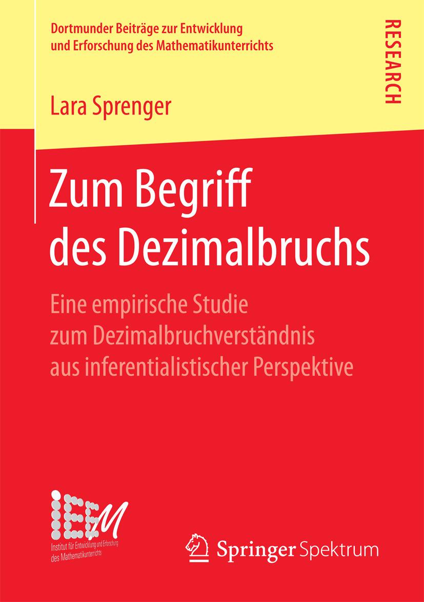 Sprenger, Lara - Zum Begriff des Dezimalbruchs, e-bok