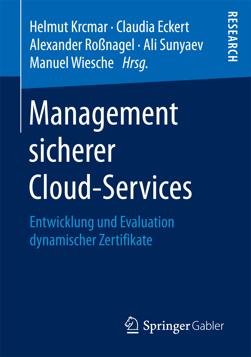 Eckert, Claudia - Management sicherer Cloud-Services, ebook