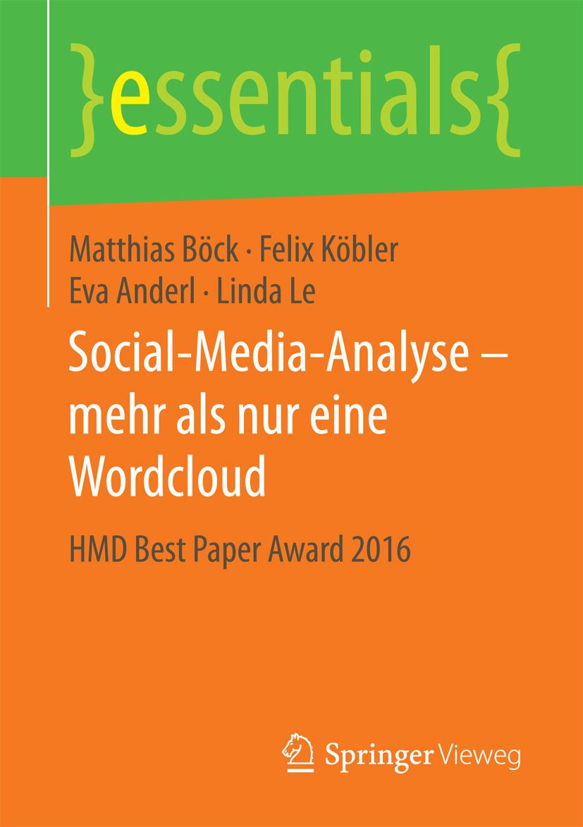 Anderl, Eva - Social-Media-Analyse – mehr als nur eine Wordcloud, ebook