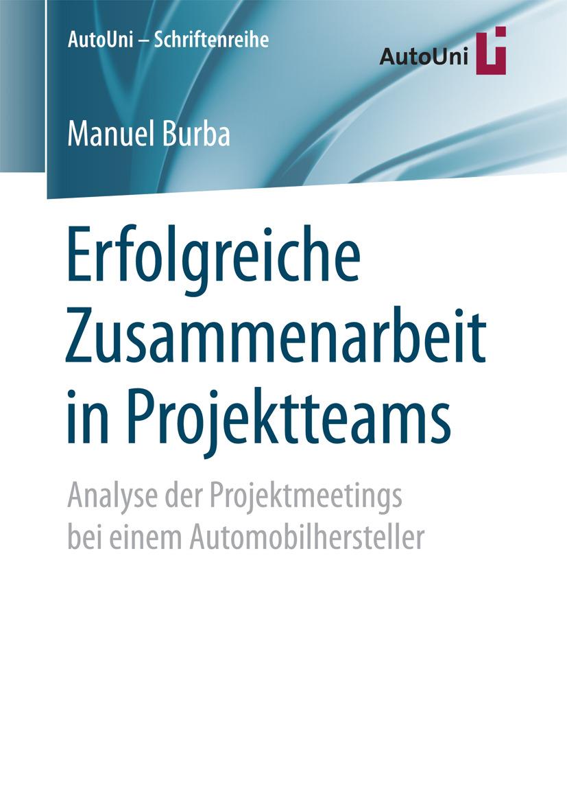 Burba, Manuel - Erfolgreiche Zusammenarbeit in Projektteams, ebook