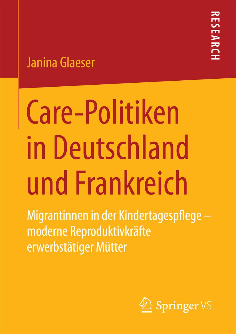 Glaeser, Janina - Care-Politiken in Deutschland und Frankreich, ebook