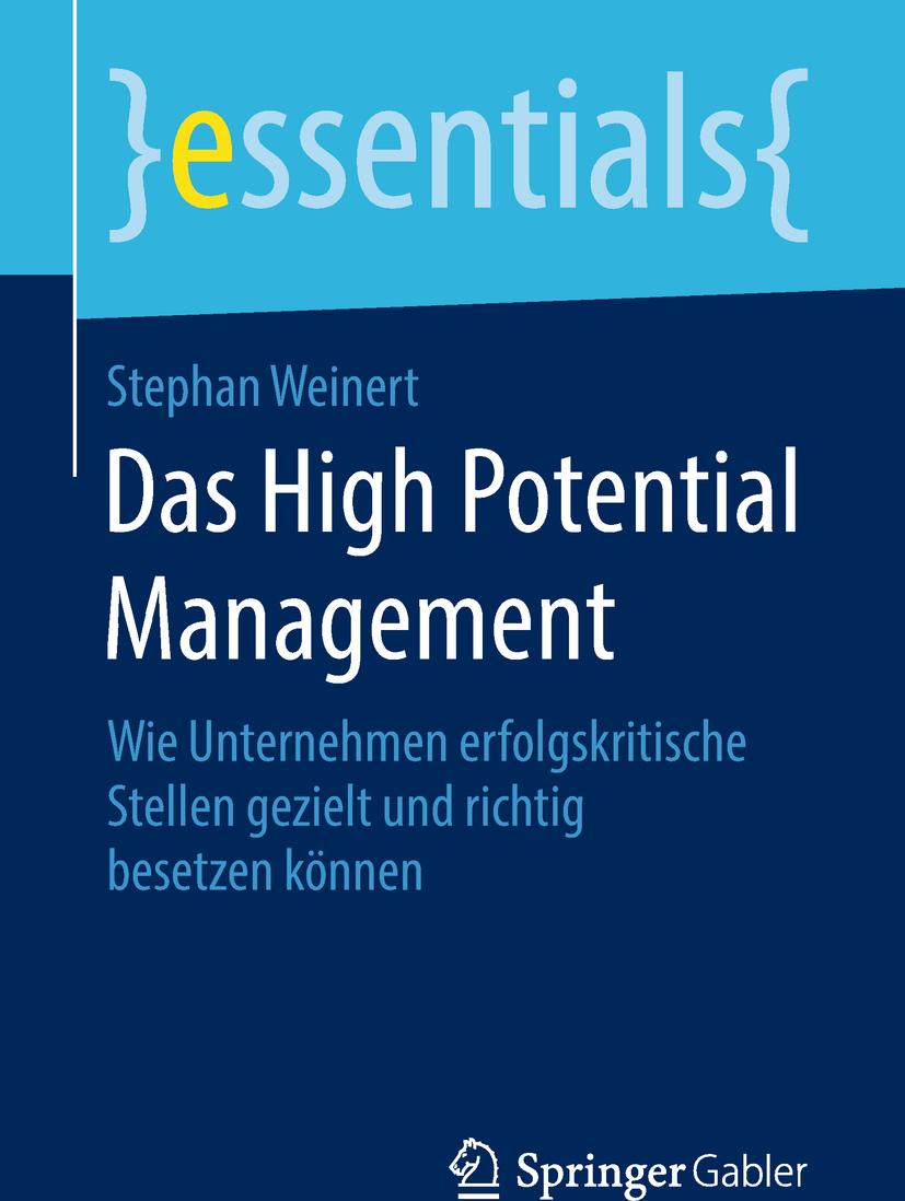 Weinert, Stephan - Das High Potential Management, e-bok