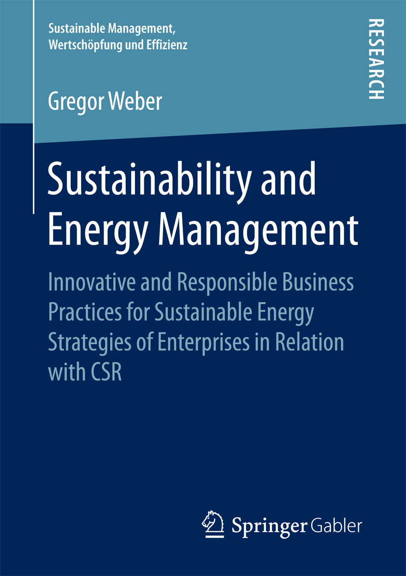 Weber, Gregor - Sustainability and Energy Management, ebook