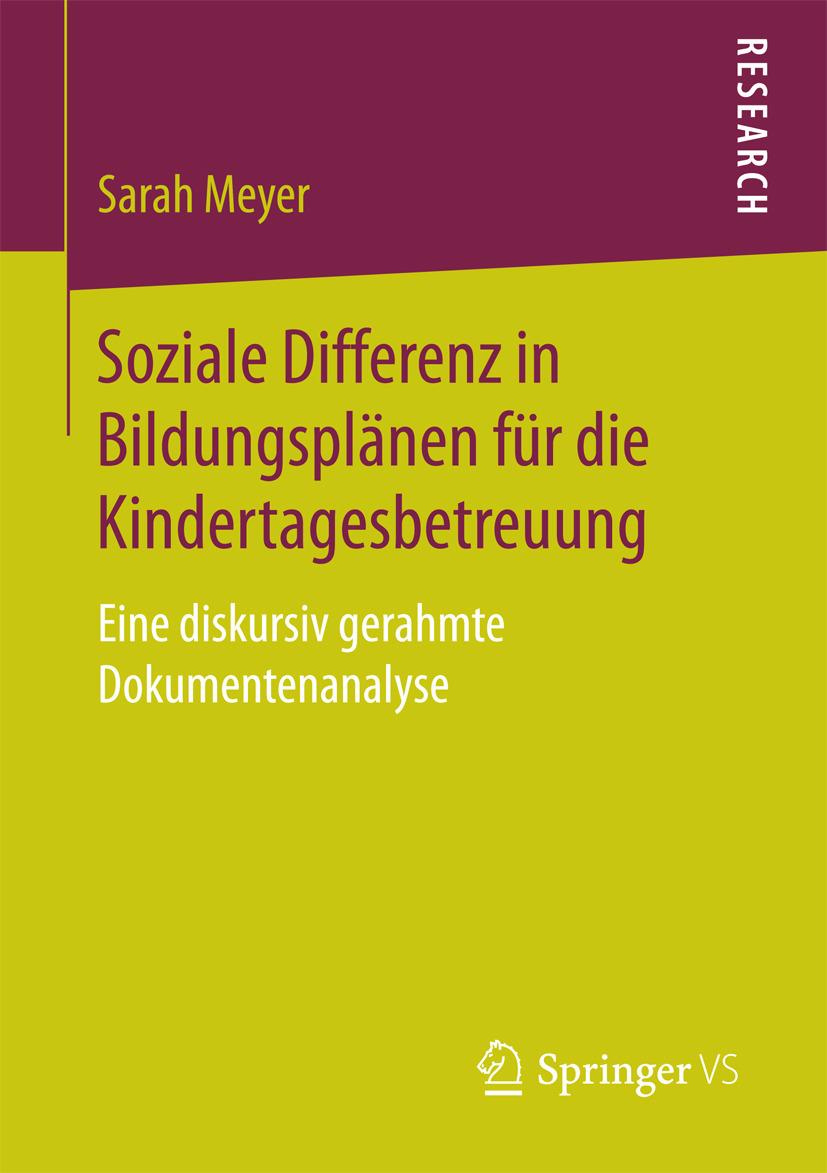 Meyer, Sarah - Soziale Differenz in Bildungsplänen für die Kindertagesbetreuung, ebook