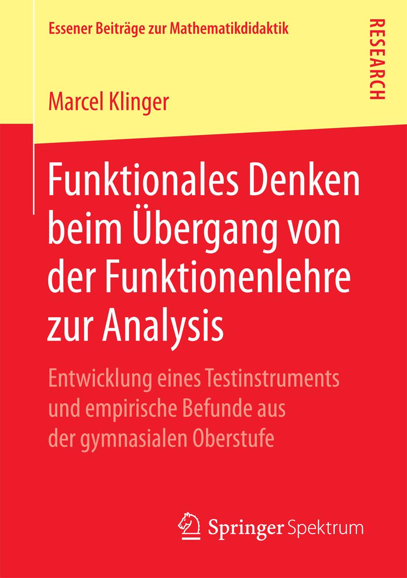 Klinger, Marcel - Funktionales Denken beim Übergang von der Funktionenlehre zur Analysis, ebook
