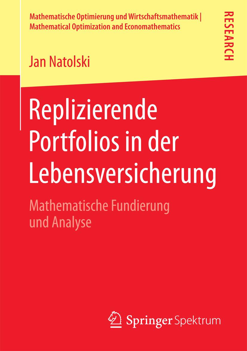 Natolski, Jan - Replizierende Portfolios in der Lebensversicherung, ebook
