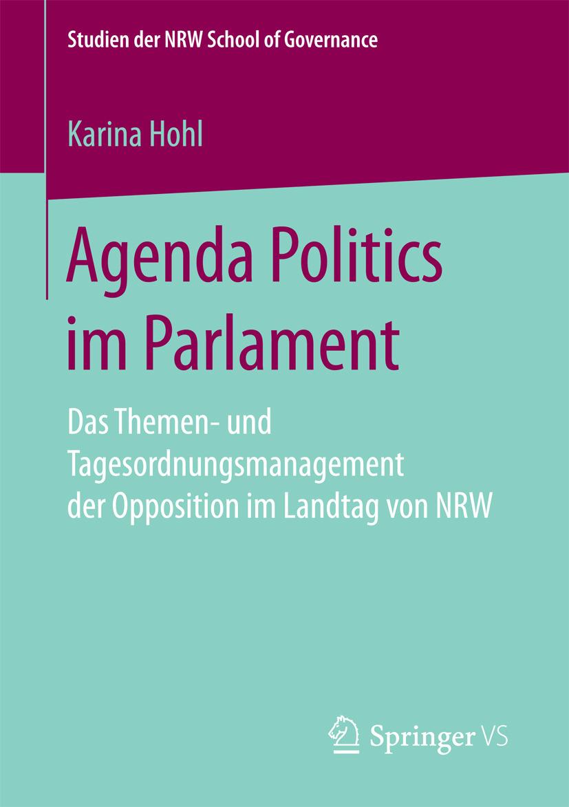 Hohl, Karina - Agenda Politics im Parlament, ebook