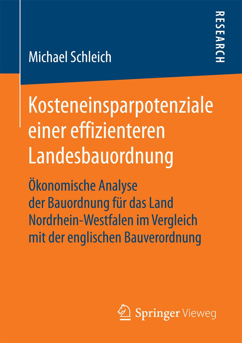 Schleich, Michael - Kosteneinsparpotenziale einer effizienteren Landesbauordnung, ebook