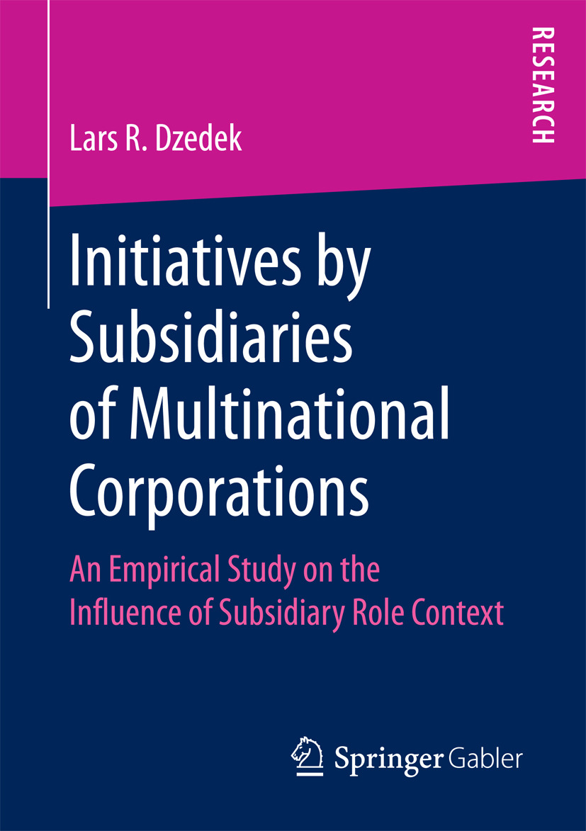 Dzedek, Lars R. - Initiatives by Subsidiaries of Multinational Corporations, ebook
