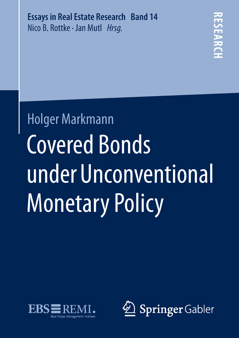 Markmann, Holger - Covered Bonds under Unconventional Monetary Policy, ebook