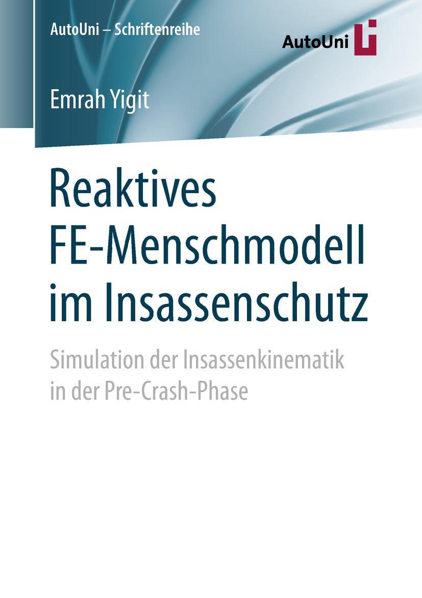 Yigit, Emrah - Reaktives FE-Menschmodell im Insassenschutz, ebook
