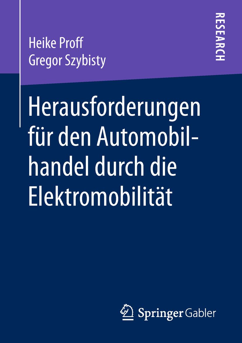 Proff, Heike - Herausforderungen für den Automobilhandel durch die Elektromobilität, e-bok