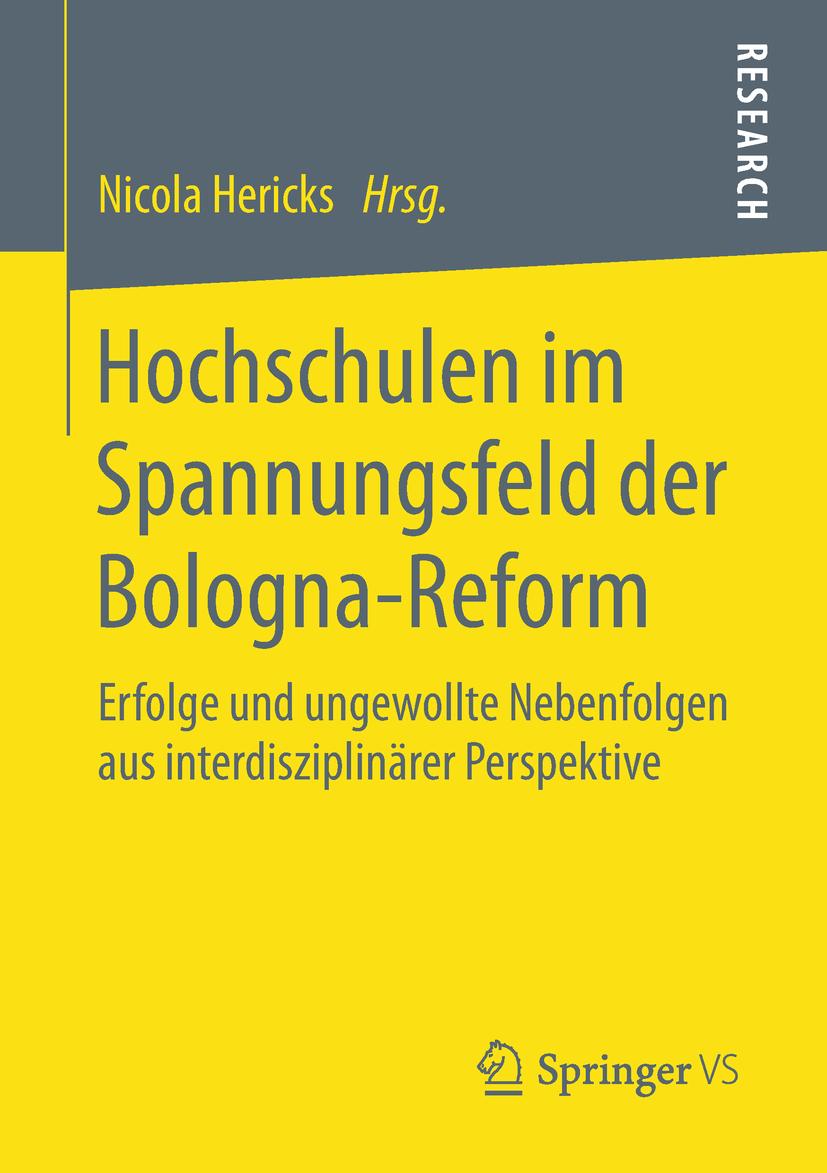 Hericks, Nicola - Hochschulen im Spannungsfeld der Bologna-Reform, ebook