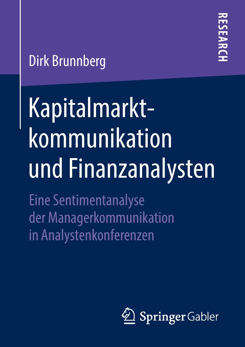Brunnberg, Dirk - Kapitalmarktkommunikation und Finanzanalysten, ebook