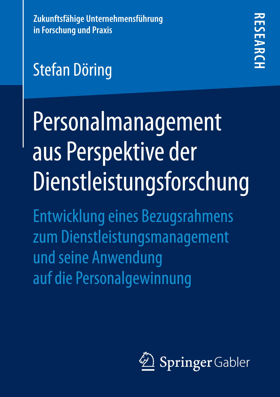 Döring, Stefan - Personalmanagement aus Perspektive der Dienstleistungsforschung, ebook