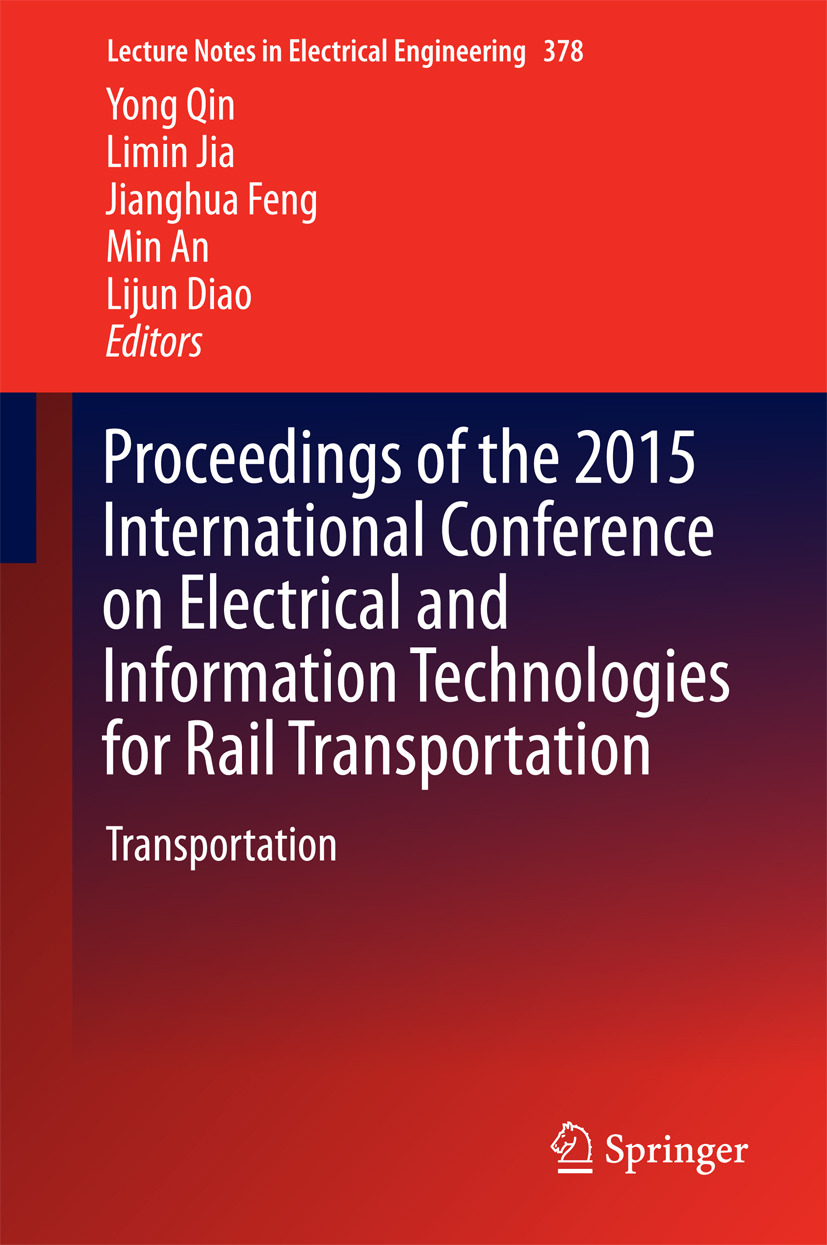 An, Min - Proceedings of the 2015 International Conference on Electrical and Information Technologies for Rail Transportation, ebook