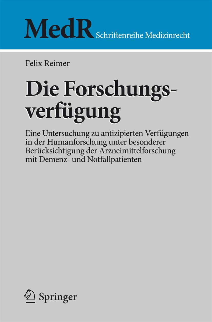 Reimer, Felix - Die Forschungsverfügung, ebook