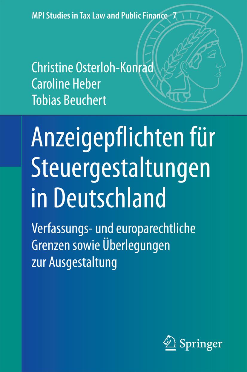 Beuchert, Tobias - Anzeigepflichten für Steuergestaltungen in Deutschland, ebook