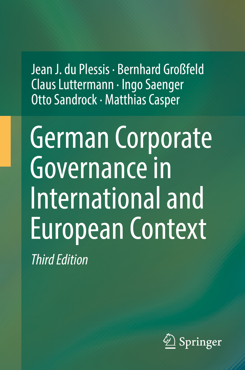 Casper, Matthias - German Corporate Governance in International and European Context, ebook