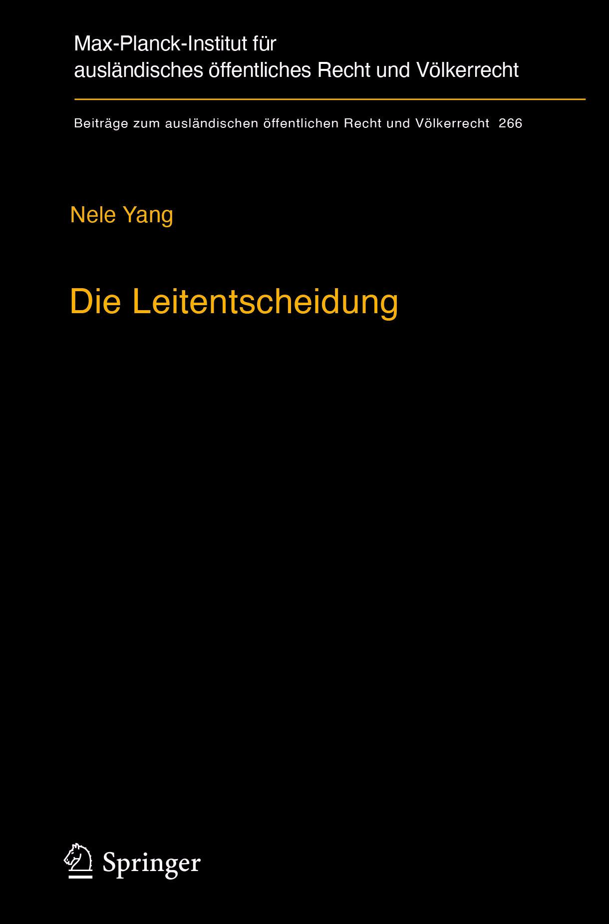 Yang, Nele - Die Leitentscheidung, e-bok