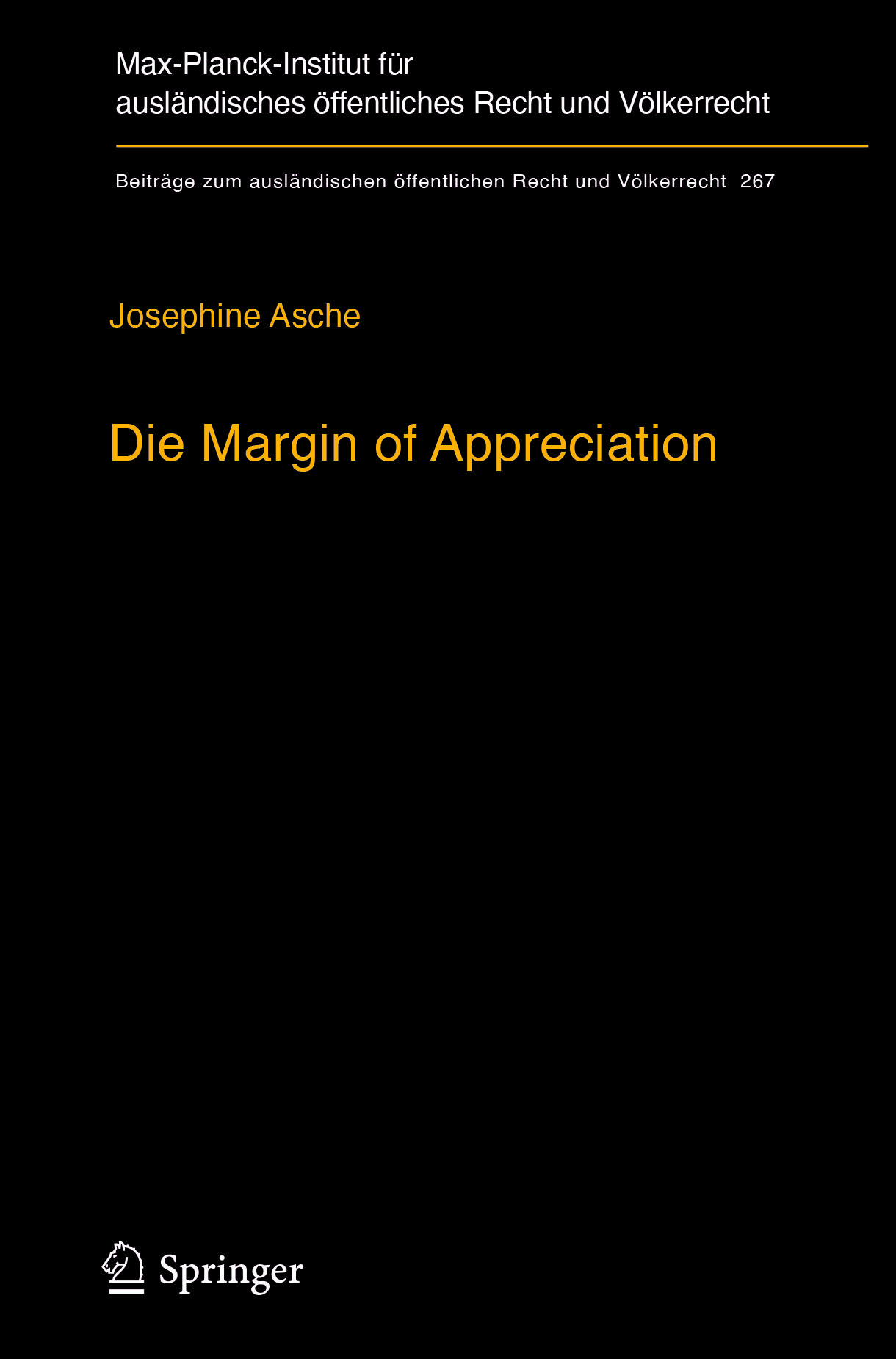 Asche, Josephine - Die Margin of Appreciation, e-kirja