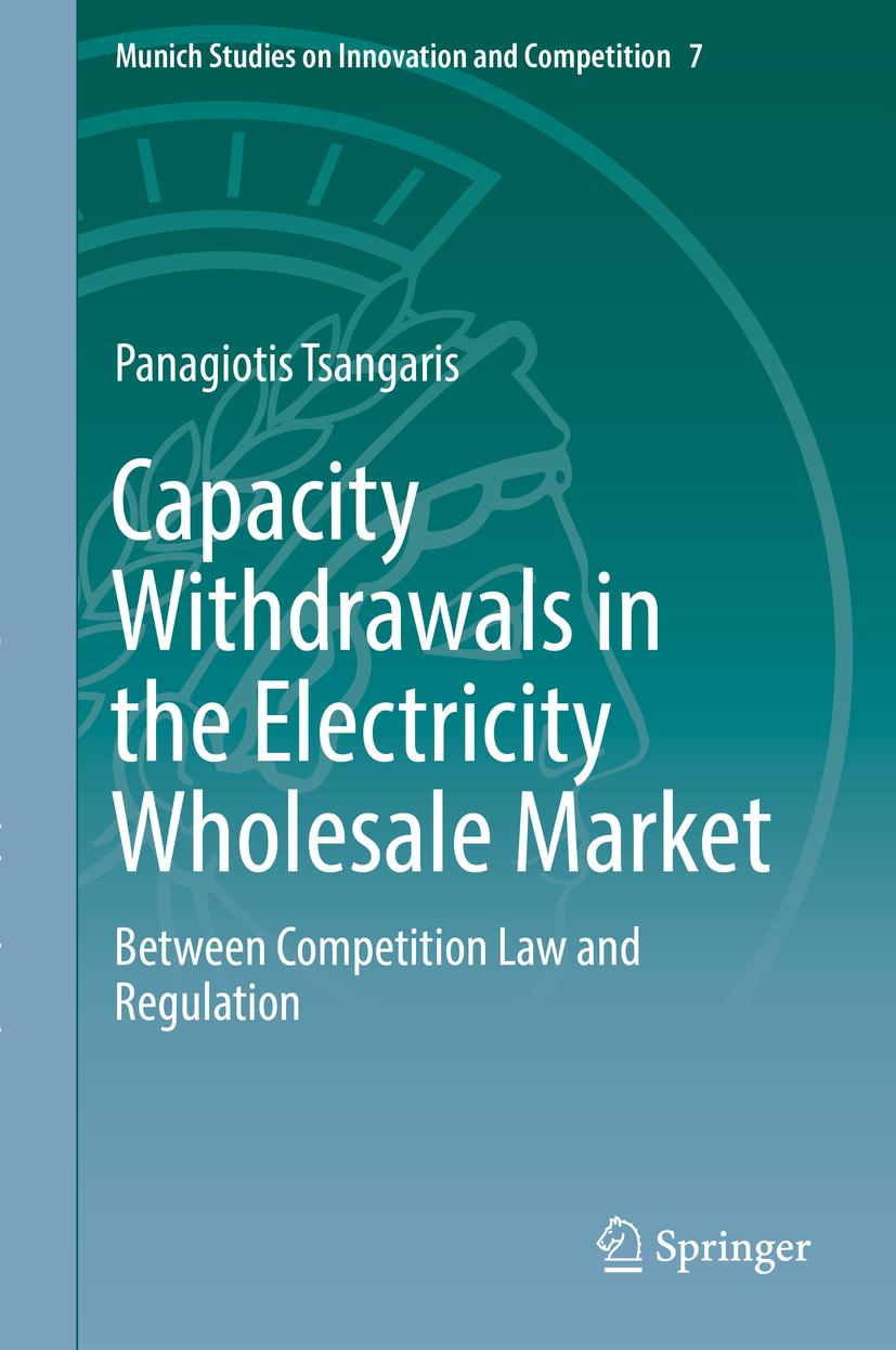 Tsangaris, Panagiotis - Capacity Withdrawals in the Electricity Wholesale Market, ebook