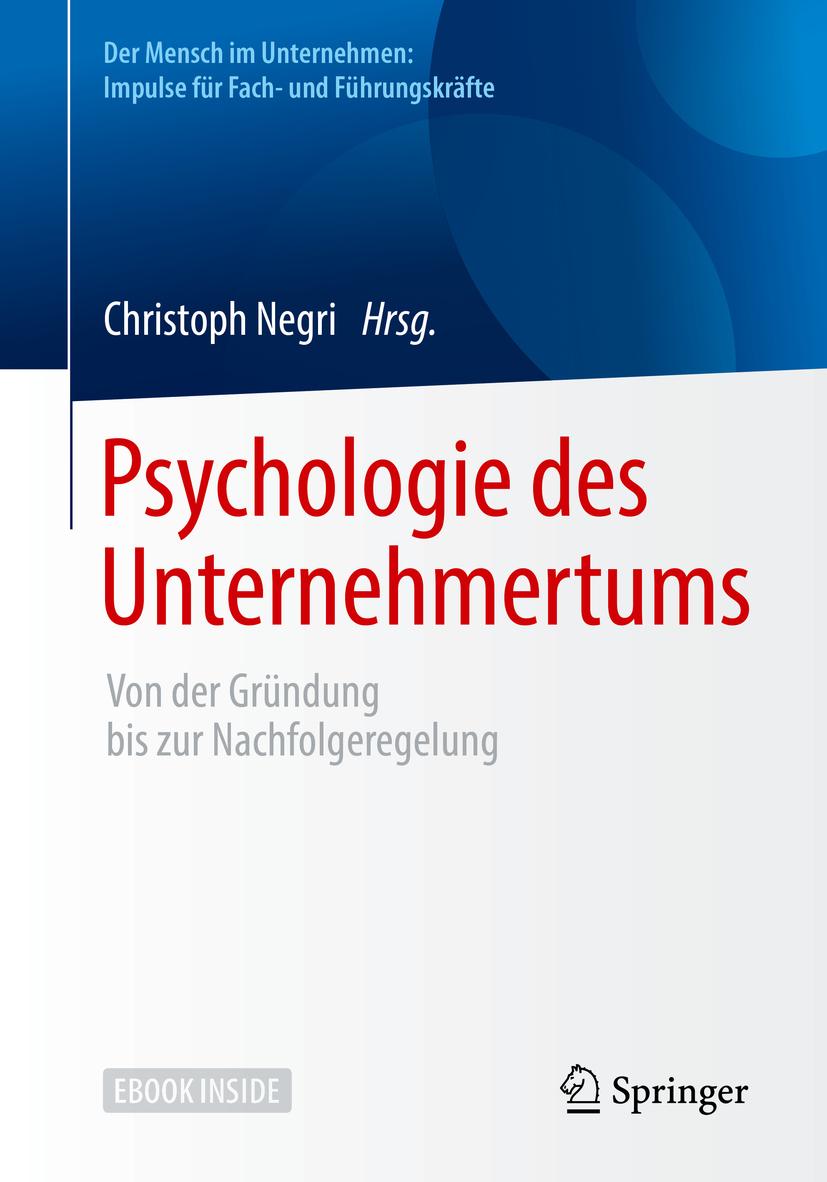 Negri, Christoph - Psychologie des Unternehmertums, ebook