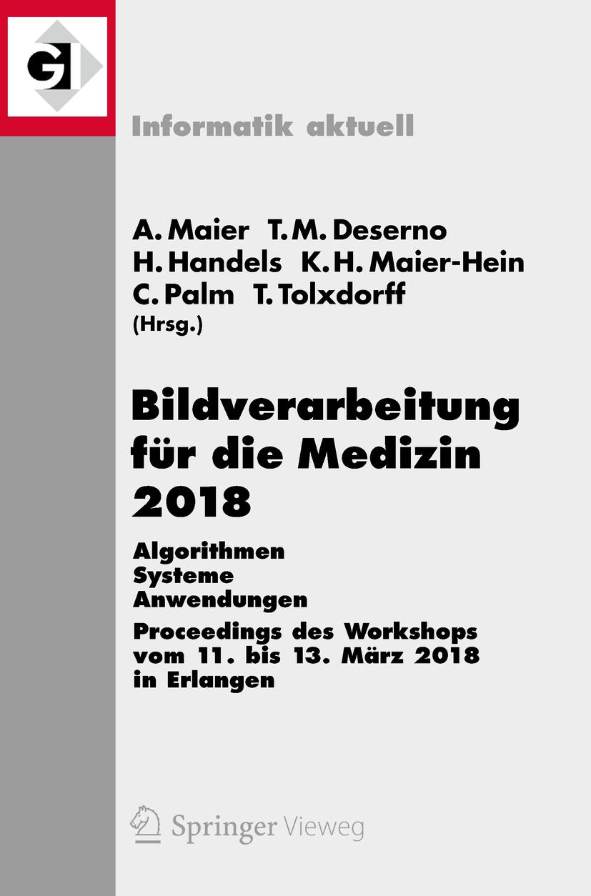 Deserno, Thomas M. - Bildverarbeitung für die Medizin 2018, e-bok