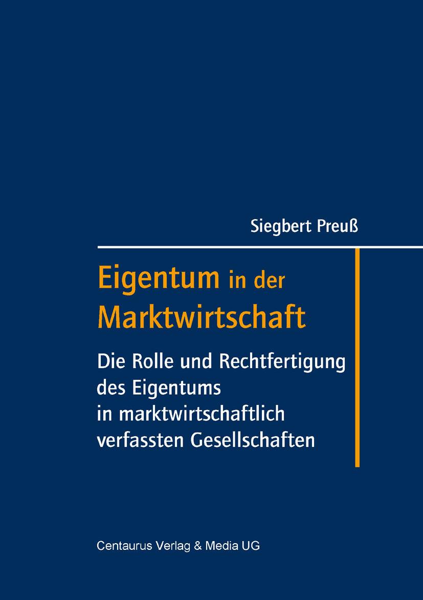 Preuß, Siegbert - Eigentum in der Marktwirtschaft, ebook