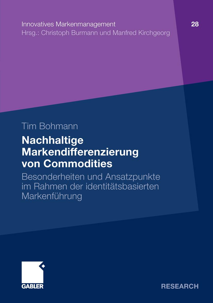 Bohmann, Tim - Nachhaltige Markendifferenzierung von Commodities, ebook