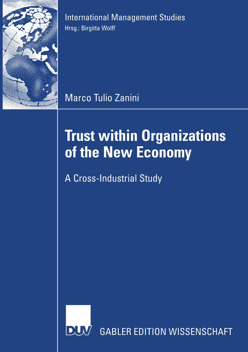 Zanini, Marco Tulio - Trust within Organizations of the New Economy, ebook