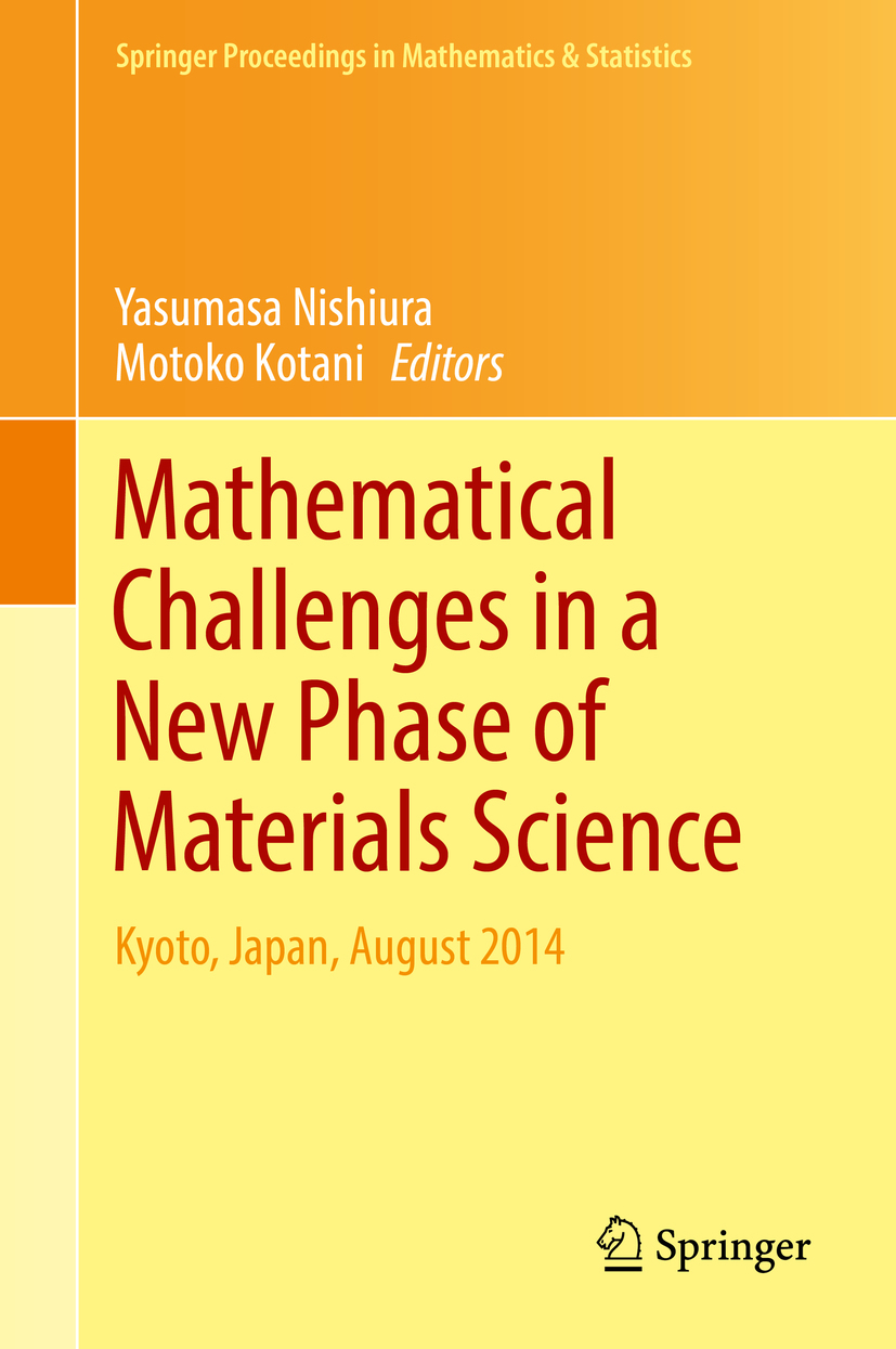 Kotani, Motoko - Mathematical Challenges in a New Phase of Materials Science, ebook