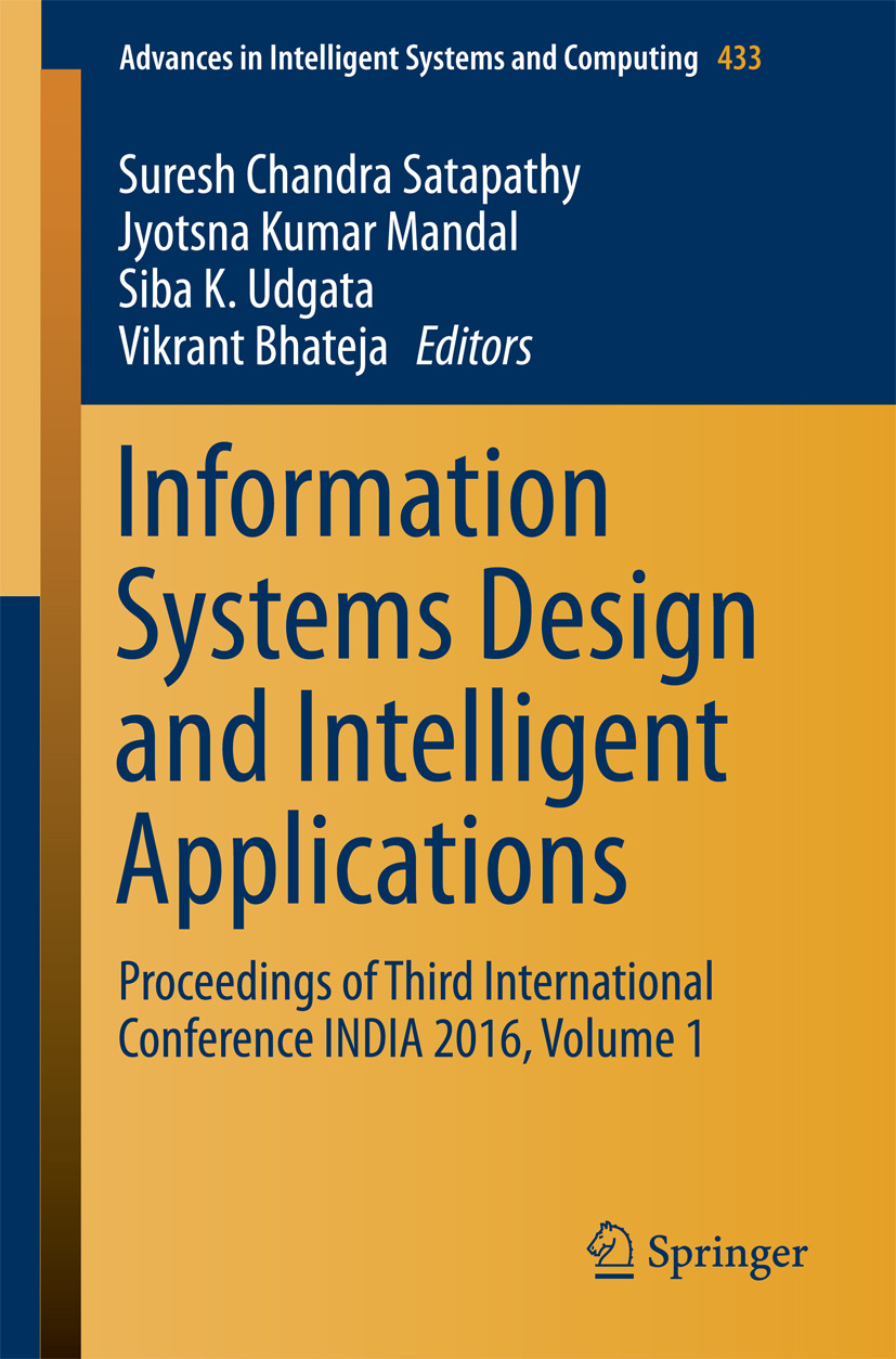 Bhateja, Vikrant - Information Systems Design and Intelligent Applications, ebook